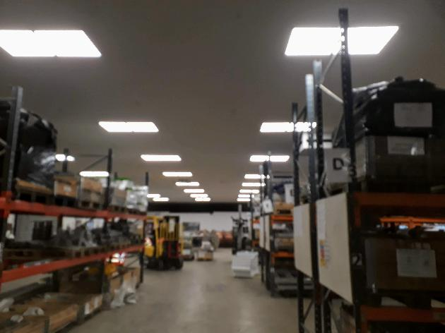 Warehouse LED lighting upgrade